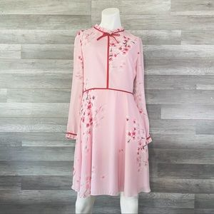 Ted Baker Dress Size 2 Long Sleeve Womens Floral